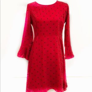 NWT — OLD NAVY Fit & Flare Red Polka Dot Dress